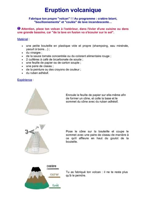 quizz cuisine volcan experience cm2 sciences cycle 3 pass