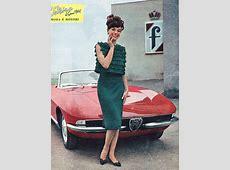 CABRIOLET ALFA ROMEO 1600 CARROZZERIA FARINA & GIRL 1963