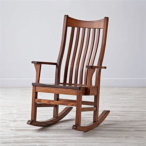 classic wooden rocking chair for nursery the land of nod