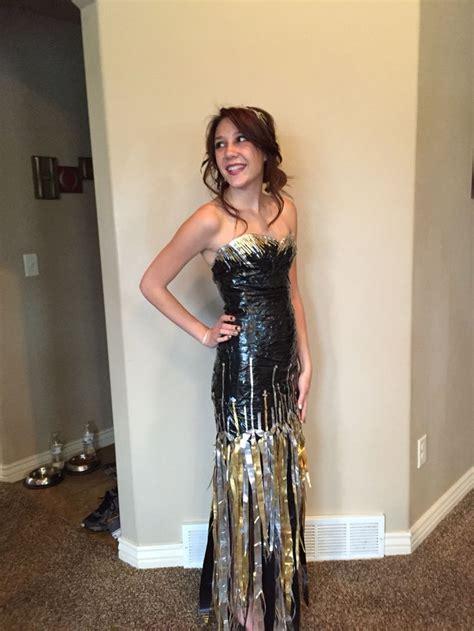 stuck  prom scholarship duck tape dress   dress