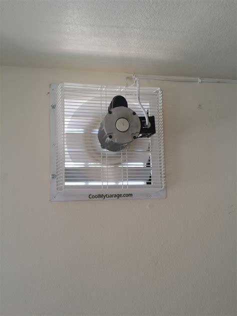 home garage exhaust fan gft 18 through wall garage fan cool my garage