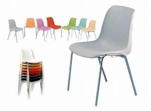 Petite Chaise En Plastique : chaise coque plastique empilable fenouillet meubles d coration chaises fauteuils ~ Teatrodelosmanantiales.com Idées de Décoration