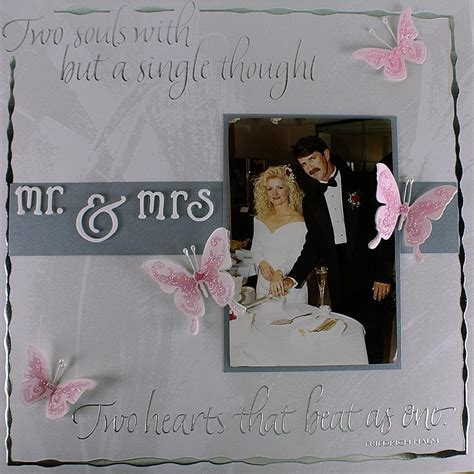 wedding scrapbook layout favecraftscom