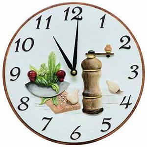 Pendule De Cuisine Moderne : pendule murale de cuisine moulin sel et poivre ~ Carolinahurricanesstore.com Idées de Décoration