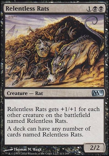 Mtg Rat Deck Tappedout by Relentless Rats M11 Mtg Card