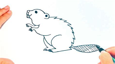 draw  beaver  kids beaver drawing lesson step