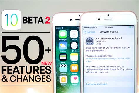ios 10 beta 2 50 new features changes review