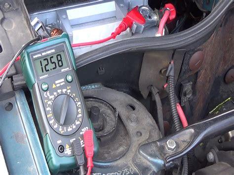 si鑒e automobile prova collaudare dei vostri circuiti di carica prova dell 39 alternatore della batteria
