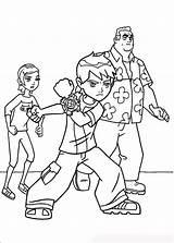 Ben Ten Coloring Pages Boys sketch template
