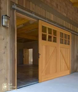 single sliding barn door for a garage door o u t d o o r With bypassing sliding garage doors
