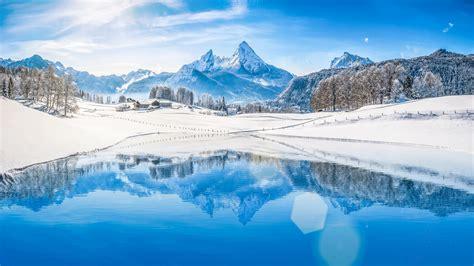 Wallpaper Alps mountains, Winter, HD, 5K, Nature, #5887