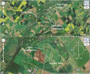 The Upper Part Of The Figure Shows A Satellite Image Of