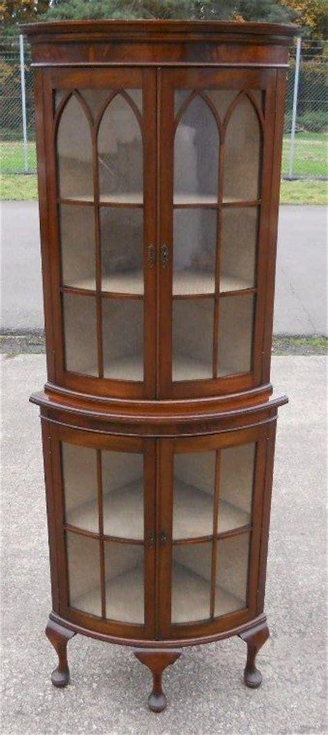 mahogany corner display cabinet mahogany bowfront corner china display cabinet 7319