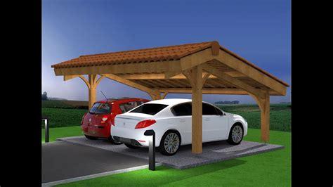 abri bois voiture d 233 mo montage abri voiture bois carport 2 places en kit