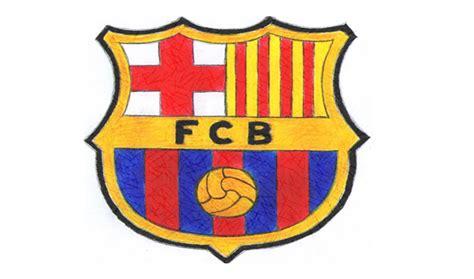 draw  fc barcelona logo fcb youtube