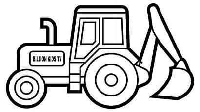 Digger Colouring Excavator Printable Clipart Truck Tonka