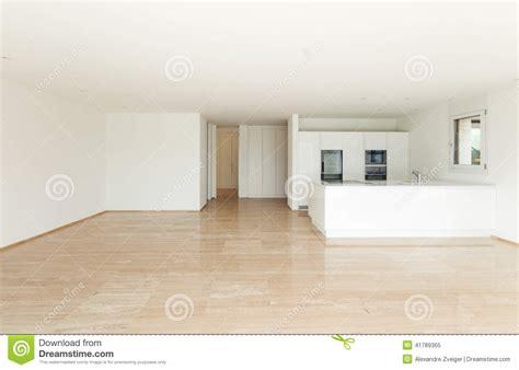 bel appartement vide cuisine moderne image stock image