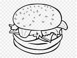 Coloring Bun Hamburger Burger Transparent Clipart sketch template