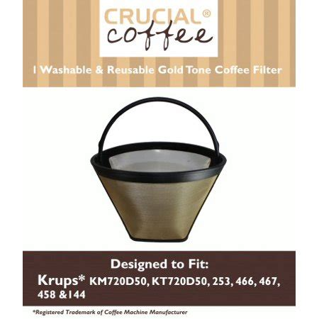 Rockline basket drip coffee filters 3. Krups Washable Gold Tone Cone Coffee Filter; Fits KM720D50 ...