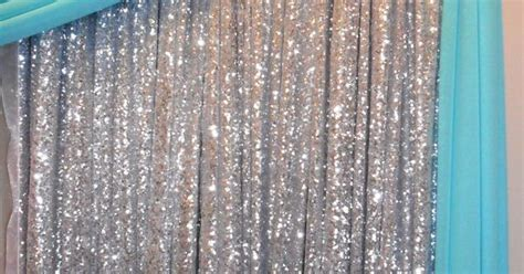 silver sequin backdrop  tiffany blue draping http