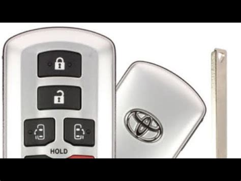 toyota key fob battery replacement youtube