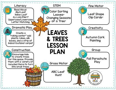 leaves trees pre k printable 929 | trees and leaves preschool lesson plan 1 orig