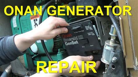 onan generator repair replacing board voltage