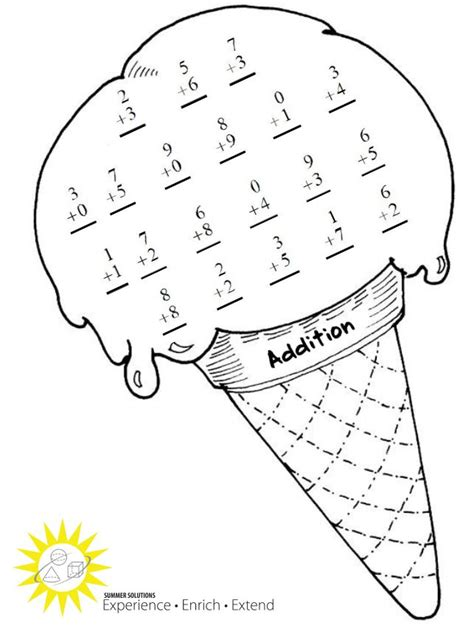 Summer Addition Worksheets Worksheets For All  Download And Share Worksheets  Free On
