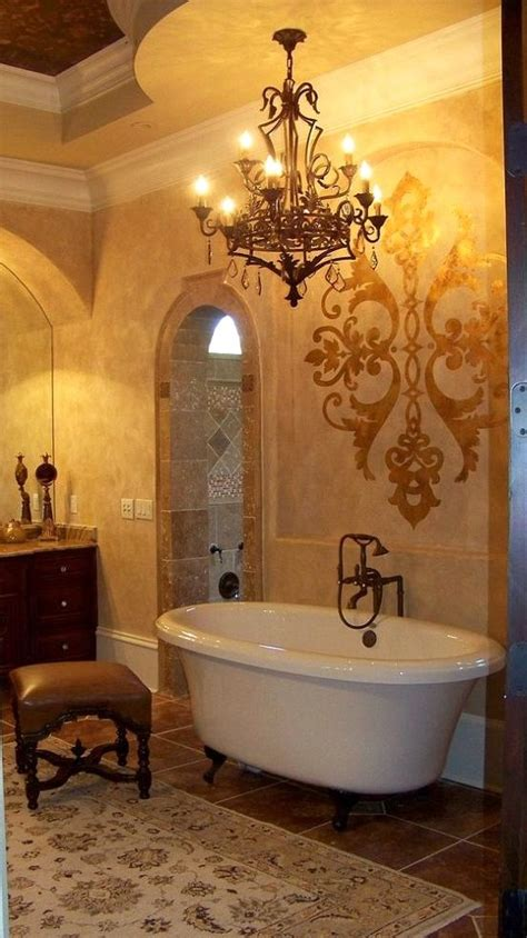 bathroom stencils and tuscan bathroom on