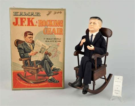 japanese battery operated jfk in rocking chair toy
