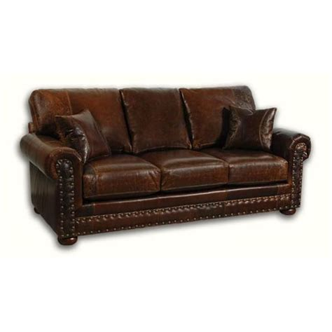 Distressed Leather Sleeper Sofa by Outlaw Leather Sleeper Sofa Tooled Leather Upholstery In
