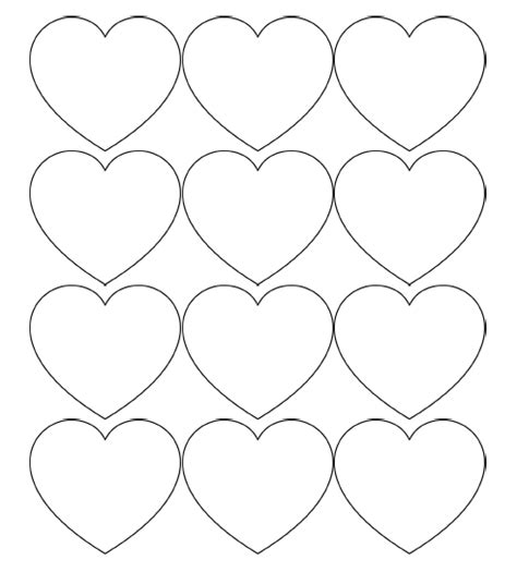 Red Heart Paper Cutouts
