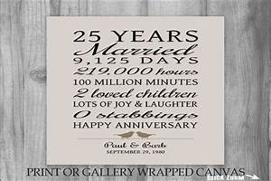 25th wedding anniversary gift ideas for couples evgplccom With 25th wedding anniversary gift ideas for couples