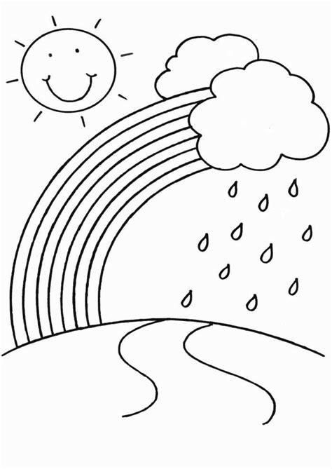 rain coloring page  kindergarten kindergarten coloring pages spring coloring pages