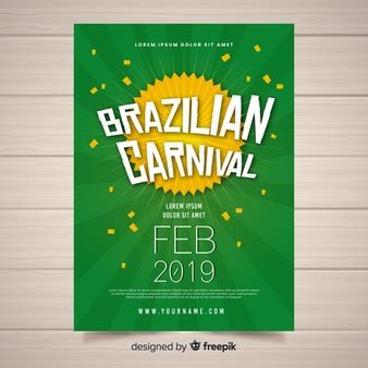 brazilian carnival flyer template poster vectors photos and psd files free download