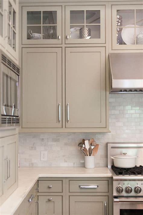 white Kitchen Backsplash. Like the cabinet color too