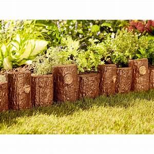 Wood, Log, Effect, Edging, Strips, Plastic, Lawn, Edge, Garden, Flowerbed, Border, Fence, 5053335773779