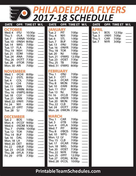 philadelphia flyers schedule   nhl hockey schedule