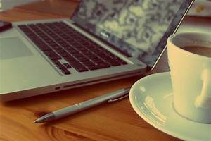Free, Images, Laptop, Desk, Computer, Macbook, Table, Technology, Ceramic, Office, Drink