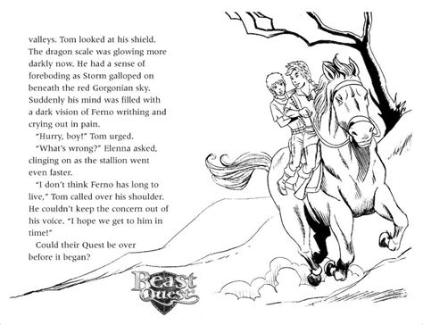 beast quest coloring pages beast quest coloring pages