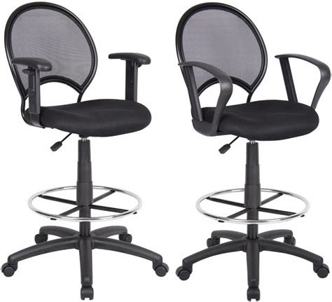 mesh back drafting stool with 25 29 inch seat height
