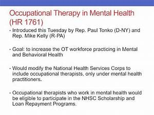 Occupational Therapy in Mental Health - AOTA's Hill Day ...