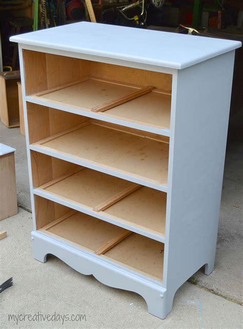 hometalk antique dresser turned bookshelf