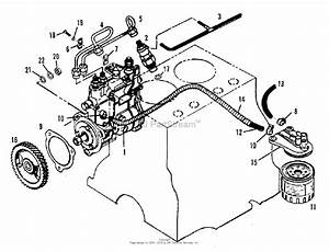 Simplicity 2097185 - 5020  Compact Diesel Tractor Parts Diagram For Fuel Injection System