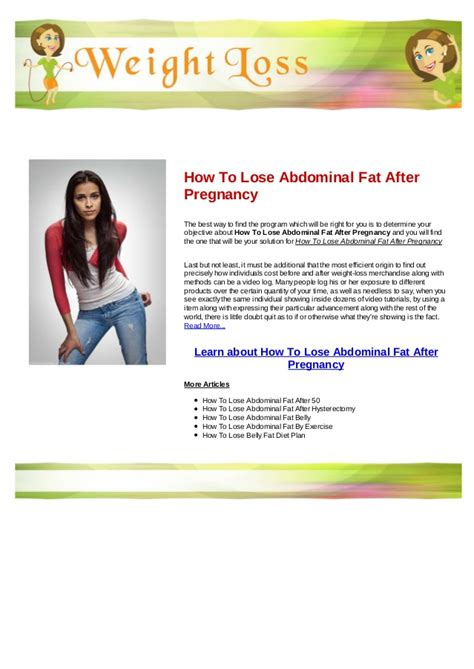 Belly Fat After Hysterectomy
