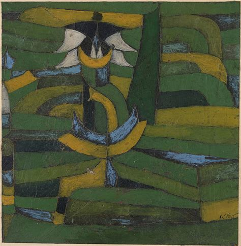 Collection Online  Paul Klee White Blossom In The Garden