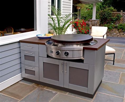 metal outdoor kitchen cabinets brown outdoor kitchens carriage house custom 7472