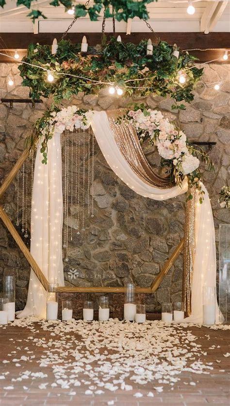 15 Geometric Wedding Backdrop Ideas for Modern Weddings