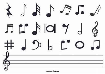 Notes Vector Note Sheet Symbols Vectors Musical