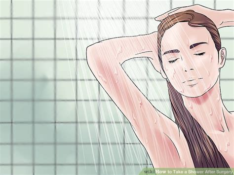 when can i take a shower after breast augmentation how to take a shower after surgery with pictures wikihow